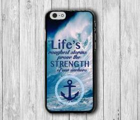 iPhone 6 Case Inspiration Quote iPhone 6 Plus, Abstract Sea iPhone 5S, iPhone 5 Case, iPhone 5C Case, iPhone 4/4S Case Text Word of Anchor #22
