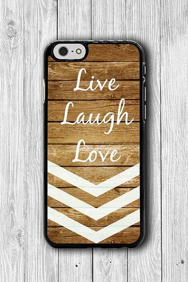 Live Laugh Love White Mint Chevron Wood iPhone Cases,iPhone 6, iPhone 5S Cover Accessories Gift For HIM & HER iPhone 4S iPhone 6 Plus Wooden