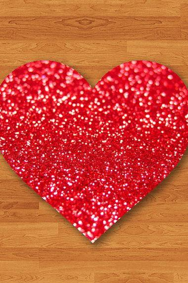 Red Vine Glitter Sparkle Printed Mouse Pad Desk Deco Rubber Heart Love MousePad New Year Gift Computer Pad Personalized Valentine Girlfriend#2-42